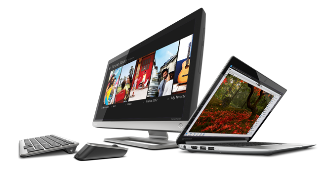 Gear up with a complete line of laptops, Ultrabook™ and All-in-One Desktop PCs—now with Windows 8.
