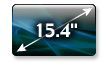 15.4 inch Diagonal TruBrite® Widescreen High-Def Display