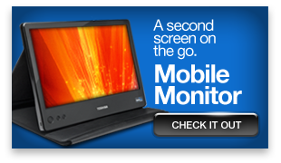 A second screen on the go. Check out our mobile monitor »