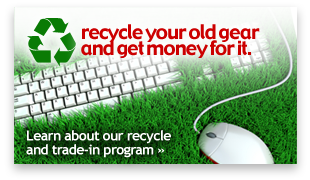 Recycle your old gear and get money for it.