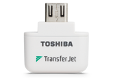 Toshiba TransferJet microUSB wireless adapter for mobile devices