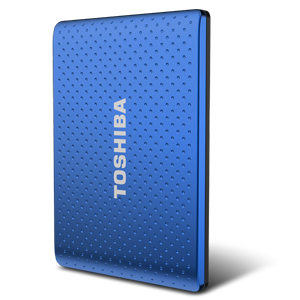 500GB Toshiba Automatic Backup Portable Hard Drive (Blue)
