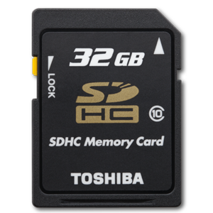 Toshiba 32GB Class 10 Secure Digital High Capacity Card