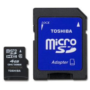 Toshiba 4GB MicroSD with STD Adapter