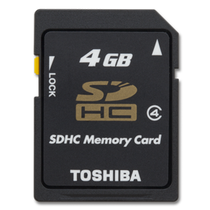 Toshiba 4GB Secure Digital High Capacity Card