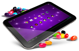 Browse the line of tablets powered by Android 4.1