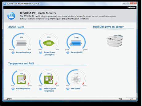 TOSHIBA SATELLITE L670 PC HEALTH MONITOR DRIVERS FOR WINDOWS XP