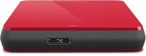 Canvio® 3 Portable Hard Drive in Red