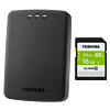 Toshiba Canvio AeroCast™ Wireless Portable Hard Drive 1TB With Free 16GB SD Card