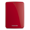 Toshiba 1TB Canvio Connect Portable Hard Drive - Red