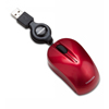 Toshiba USB Optical Retractable Mini Mouse-Scarlet Red