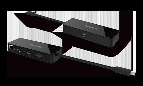 Toshiba USB-C to HDMI/VGA/LAN (Travel Dock) with Power ...